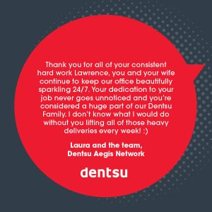 Commercial Cleaning at dentsu